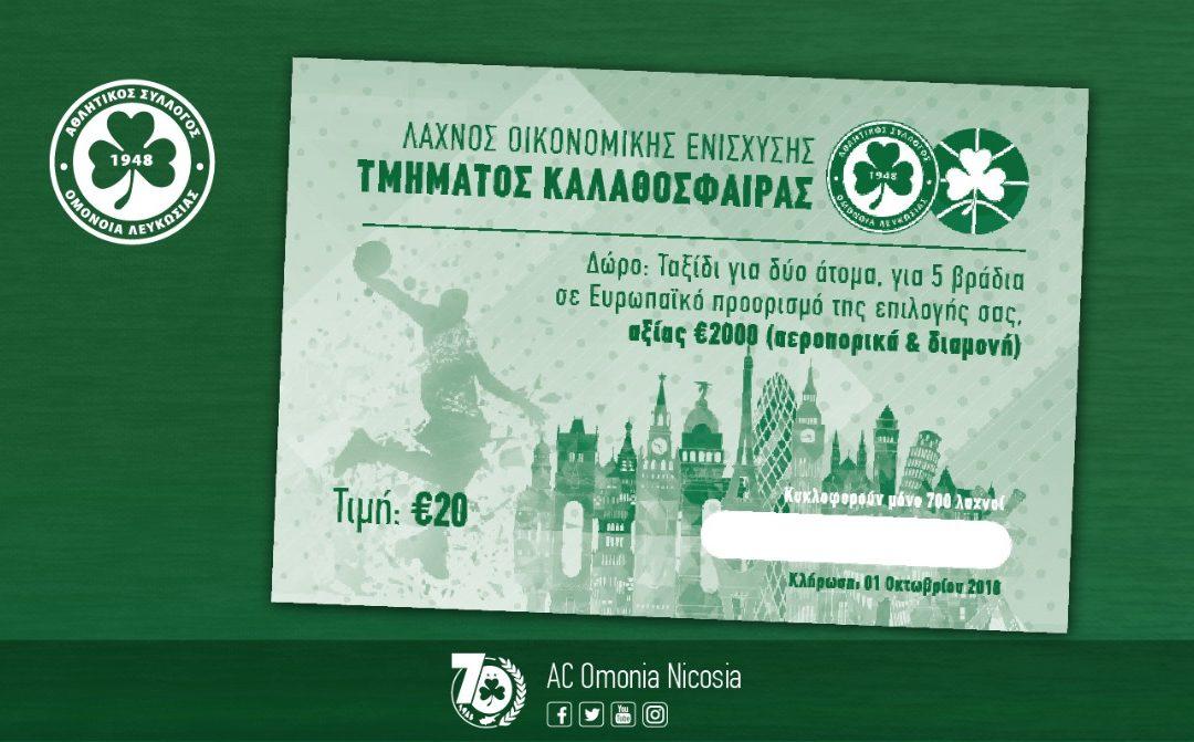 ΚΑΛΑΘΟΣΦΑΙΡΑ | Λαχνός οικονομικής ενίσχυσης με δώρο ταξίδι σε Ευρωπαϊκό προορισμό αξίας €2000