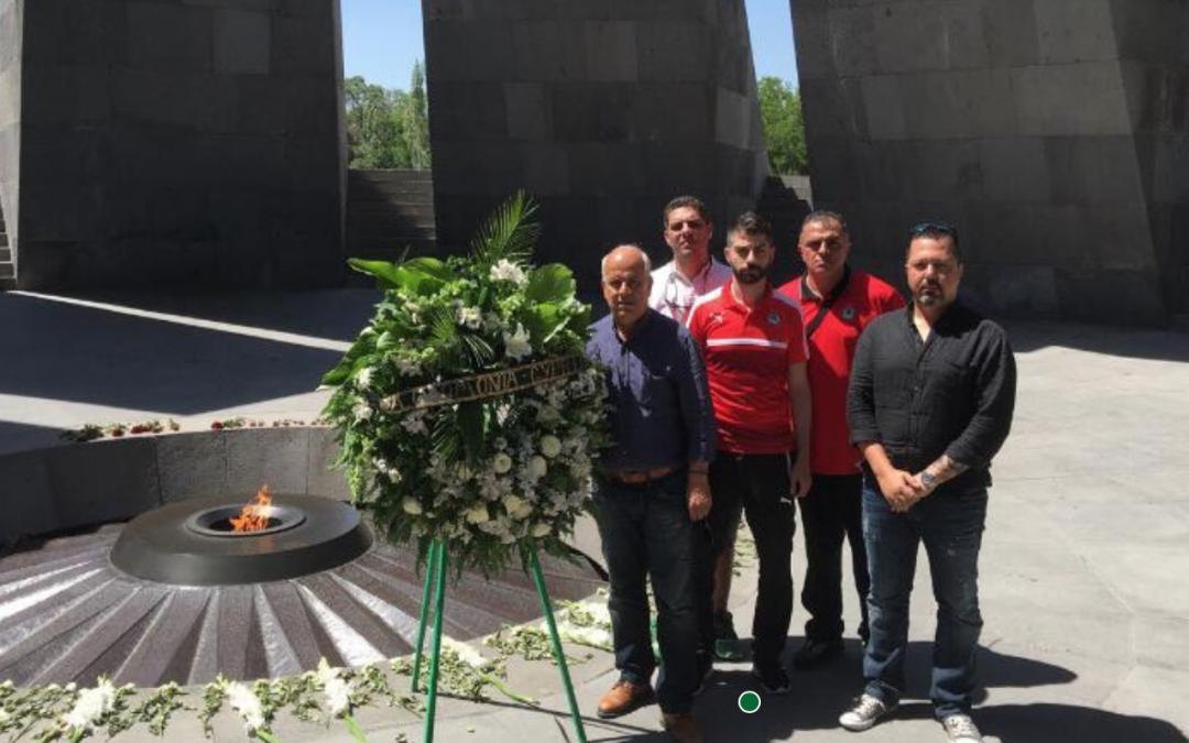 Κατάθεση στεφάνου στο Μνημείο της Γενοκτονίας των Αρμενίων