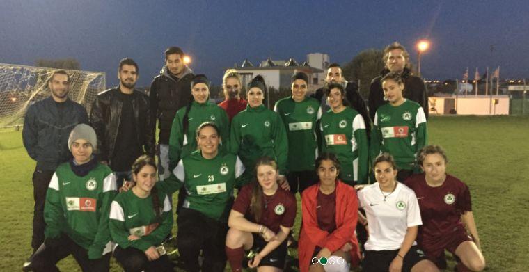 Επίσκεψη ποδοσφαιριστών στην Ακαδημία της Γυναικείας Ποδοσφαιρικής Ομάδας